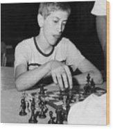 Bobby Fischer, Circa 1957 Wood Print by Everett