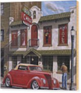 Bob's Chili Parlor Wood Print by Craig Shillam