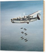 Bombs Away Wood Print by Marc Stewart