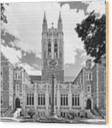 Boston College Gasson Hall Wood Print by University Icons