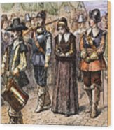 Boston: Mary Dyer, 1660 Wood Print by Granger