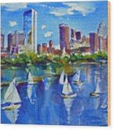 Boston Skyline Wood Print by Diane Bell