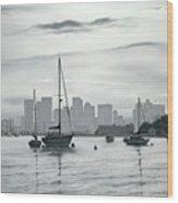 Boston Skyline  Wood Print by Matthew Martelli