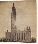 Boston United Methodist Church Wood Print by Tamyra Ayles