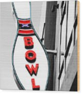 Bowling Wood Print by Steven  Michael
