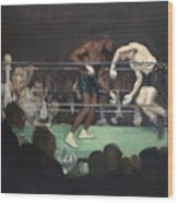Boxing Match Wood Print by George Luks