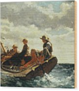 Breezing Up Wood Print by Winslow Homer