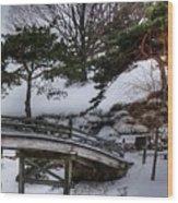 Bridge At Botanical Garden Wood Print by David Bearden