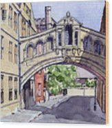 Bridge Of Sighs. Hertford College Oxford Wood Print by Mike Lester