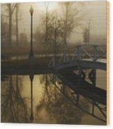 Bridge Over Still Waters Wood Print by Wayne Archer