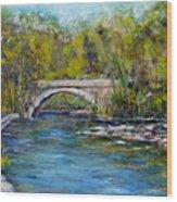 Bridge Over Wissahickon Creek Wood Print by Joyce A Guariglia