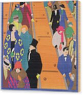 Brightest London Is Best Reached By Underground Wood Print by Horace Taylor