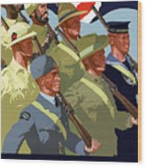 British Empire Soldiers Together Wood Print by War Is Hell Store