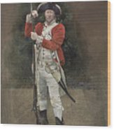 British Infantryman C.1777 Wood Print by Chris Collingwood