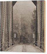 Brooklyn Bridge Wood Print by JC Findley