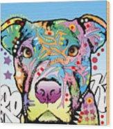 Brooklyn Pit Bull 2 Wood Print by Dean Russo