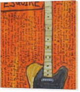Bruce Springsteen's Fender Esquire Wood Print by Karl Haglund