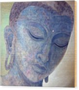 Buddha Alive In Stone Wood Print by Jennifer Baird