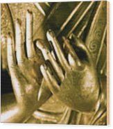 Buddhas Hands Wood Print by Ray Laskowitz - Printscapes