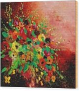 Bunch Of Flowers 0507 Wood Print by Pol Ledent