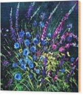 Bunch Of Wild Flowers Wood Print by Pol Ledent