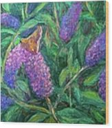 Butterfly View Wood Print by Kendall Kessler