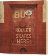 Buy Skates Here Wood Print by Brenda Conrad