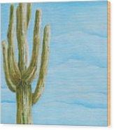 Cactus Jack Wood Print by Joseph Palotas