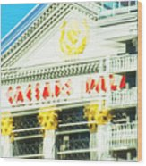 Caesar's Palace Hung Over View Wood Print by Richard Henne
