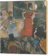 Cafe Concert At Les Ambassadeurs Wood Print by Edgar Degas
