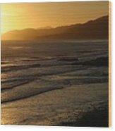 California Coast Sunset Wood Print by Balanced Art