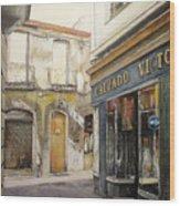 Calzados Victoria-leon Wood Print by Tomas Castano