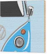 Camper Blue 2 Wood Print by Michael Tompsett