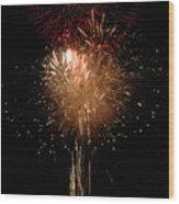 Candle Burst Wood Print by Norman  Andrus