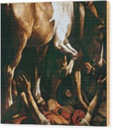 Caravaggio: St. Paul Wood Print by Granger