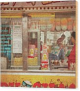 Carnival - The Candy Shack Wood Print by Mike Savad