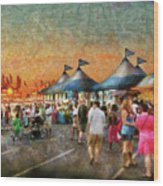 Carnival - Who Wants Gyros Wood Print by Mike Savad