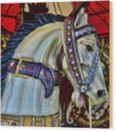 Carousel Horse - 7 Wood Print by Paul Ward