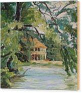 Cascadilla Boathouse Ithaca New York Wood Print by Ethel Vrana