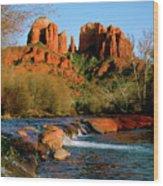 Cathedral Rock At Redrock Crossing Wood Print by Crystal Garner