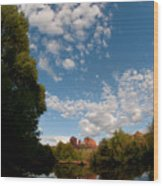 Cathedral Rock One Wood Print by David Sunfellow