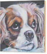 Cavalier King Charles Spaniel Blenheim Wood Print by Lee Ann Shepard