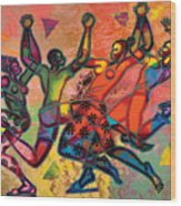 Celebrate Freedom Wood Print by Larry Poncho Brown