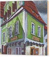 Cesky Krumlov Old Street 3 Wood Print by Yuriy  Shevchuk