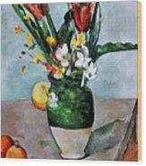 Cezanne: Tulips, 1890-92 Wood Print by Granger