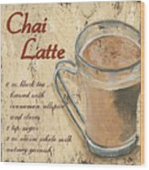 Chai Latte Wood Print by Debbie DeWitt