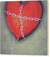 Chained Heart Wood Print by Jeff Kolker
