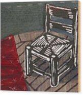 Chair II Wood Print by Peter Allan