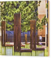 Chairs At The Gate Wood Print by Ricky Barnard