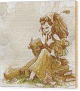 Chamomile 2 Wood Print by Brian Kesinger